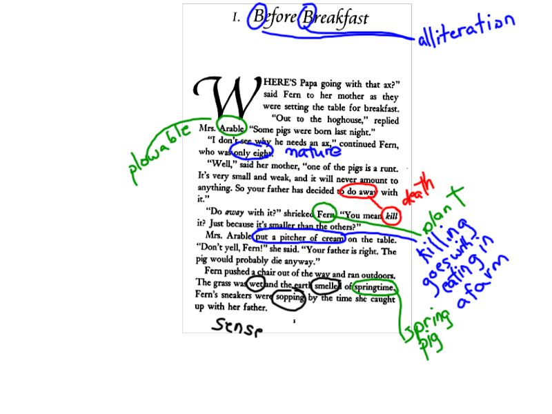 Annotation - Mrs  Erdman's Sophomore English